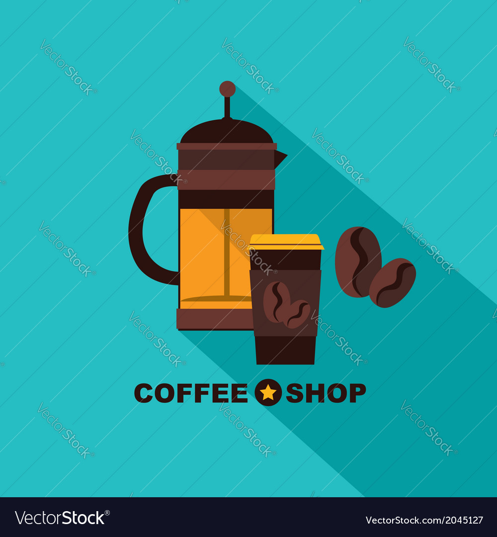 Coffee icon menu flat design for menu coffee shop vector | Price: 1 Credit (USD $1)