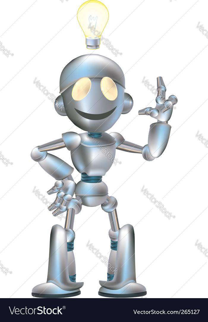 Cute robot vector | Price: 3 Credit (USD $3)