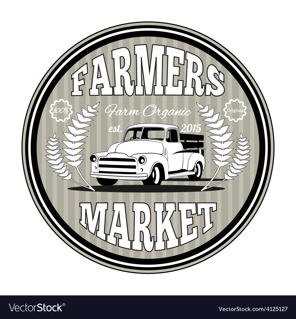 Farmers market vector | Price: 1 Credit (USD $1)
