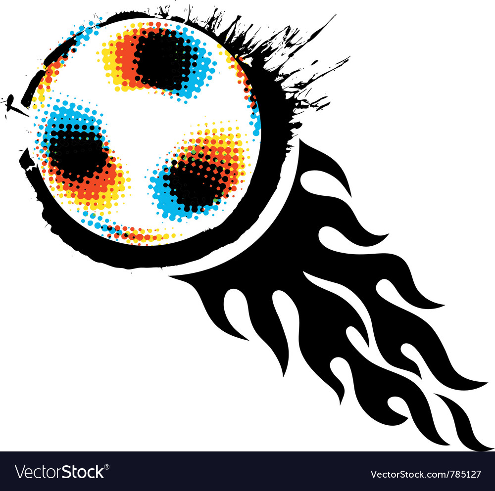 Halftone soccer ball vector | Price: 1 Credit (USD $1)
