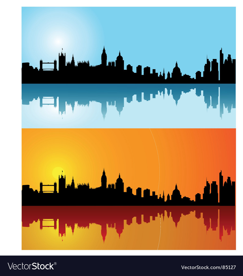 London skyline silhouette vector | Price: 1 Credit (USD $1)