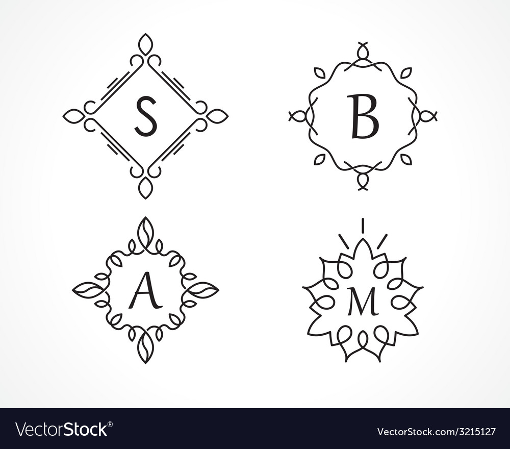 Monogram vector | Price: 1 Credit (USD $1)