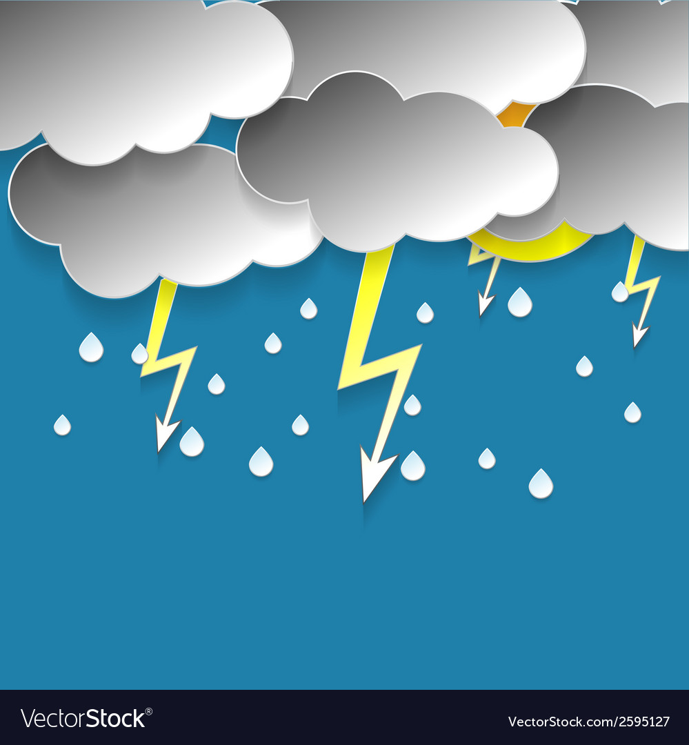 Rainy sky vector | Price: 1 Credit (USD $1)