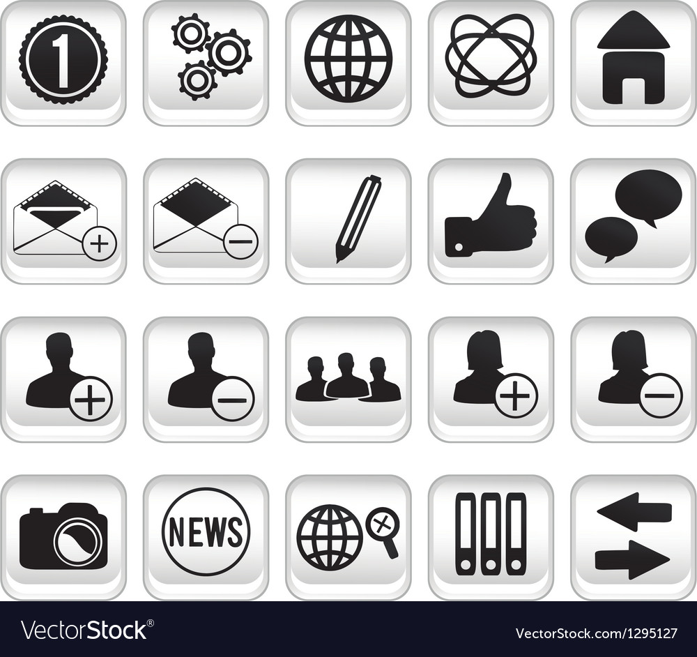 Set community buttons icons part 1 vector | Price: 1 Credit (USD $1)
