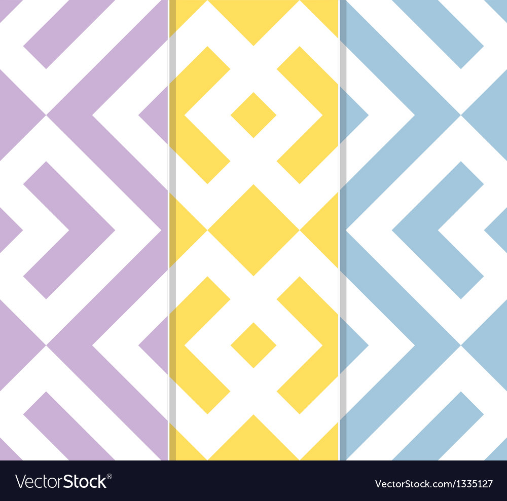 Set of three seamless geometric background pattern vector | Price: 1 Credit (USD $1)
