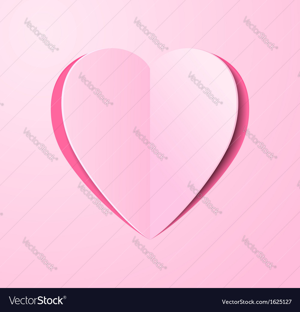 Stylized paper heart bent middle vector | Price: 1 Credit (USD $1)