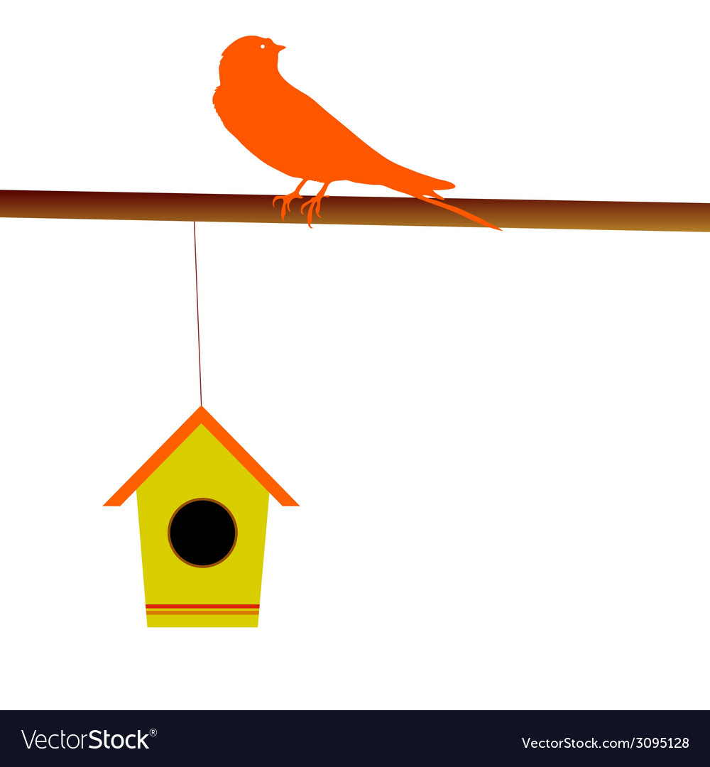 Bird with its house vector | Price: 1 Credit (USD $1)