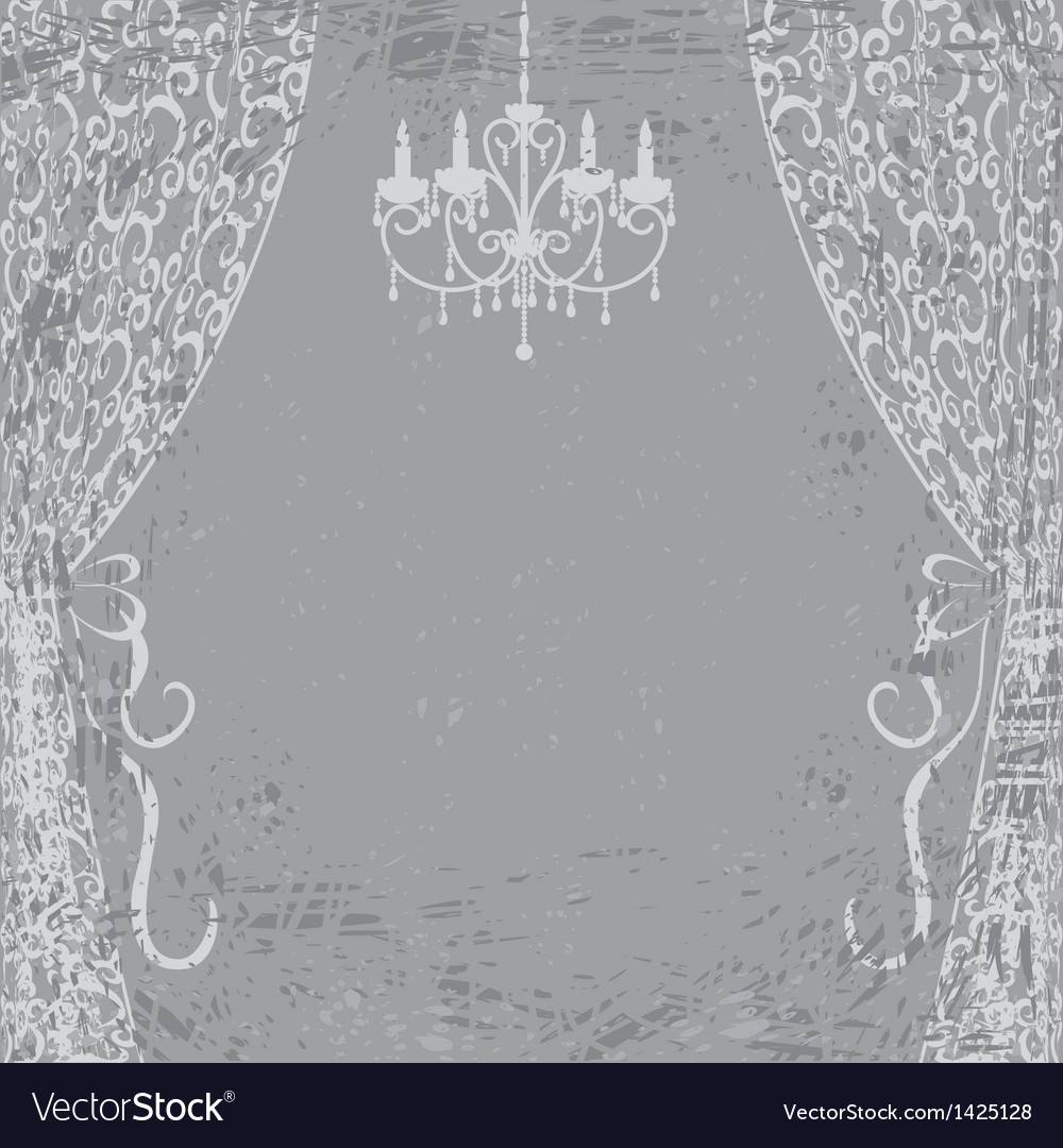 Chandelier and curtains vector | Price: 1 Credit (USD $1)