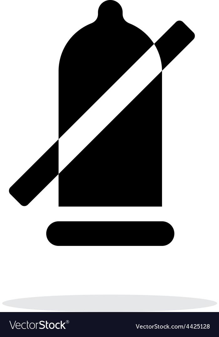 Condom ban icon on white background vector   Price: 1 Credit (USD $1)