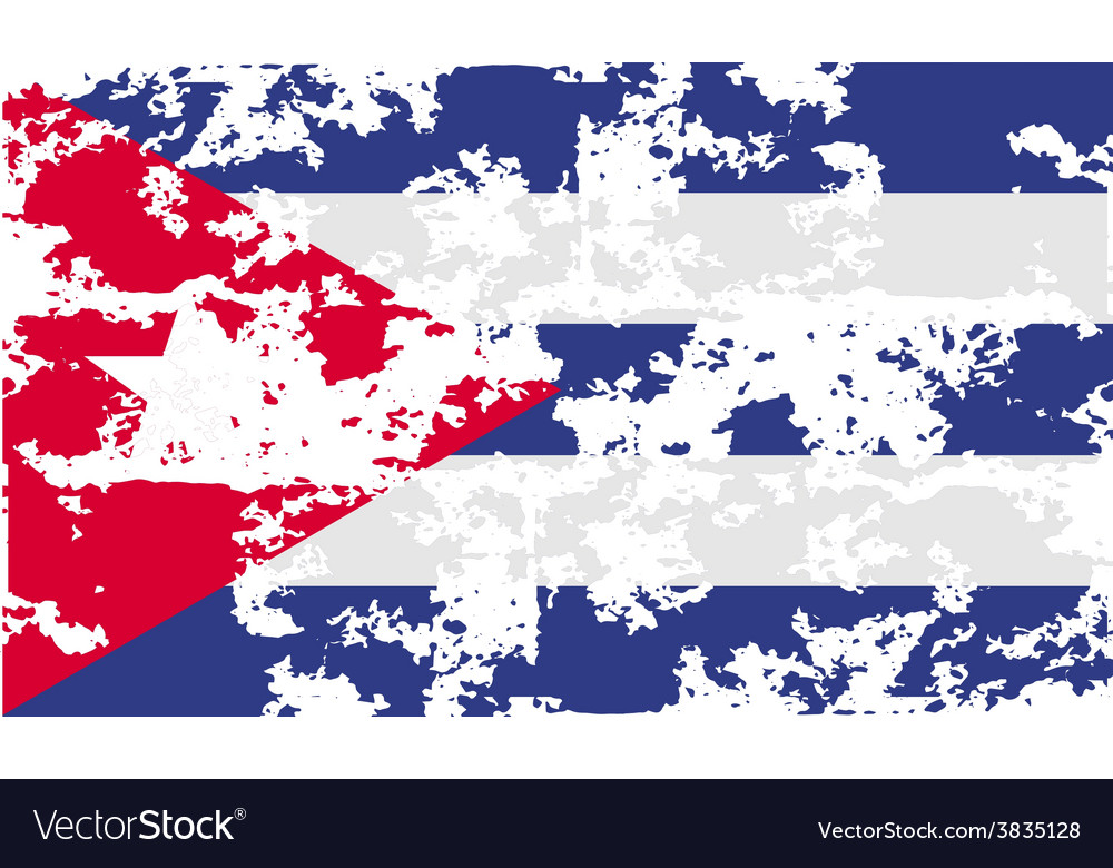Flag of cuba with old texture vector | Price: 1 Credit (USD $1)
