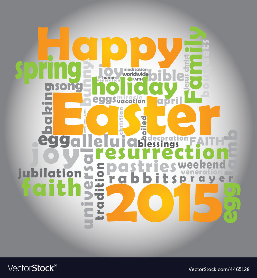 Happy easter 2015 vector | Price: 1 Credit (USD $1)
