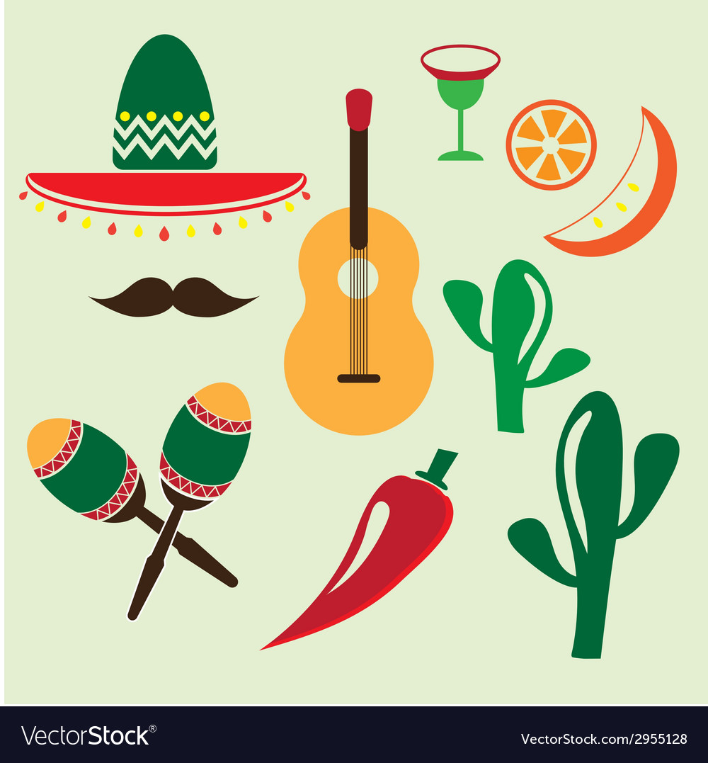 Mexico icons set vector | Price: 1 Credit (USD $1)
