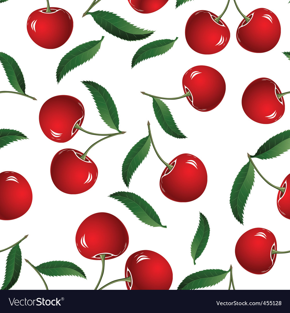 Red cherry vector | Price: 1 Credit (USD $1)