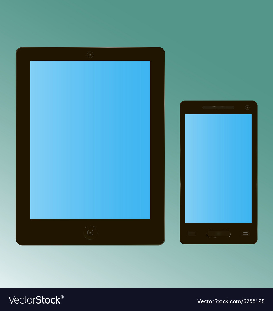 Tablet smartphone vector | Price: 1 Credit (USD $1)