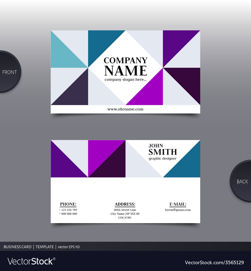 Abstract creative business card vector | Price: 1 Credit (USD $1)
