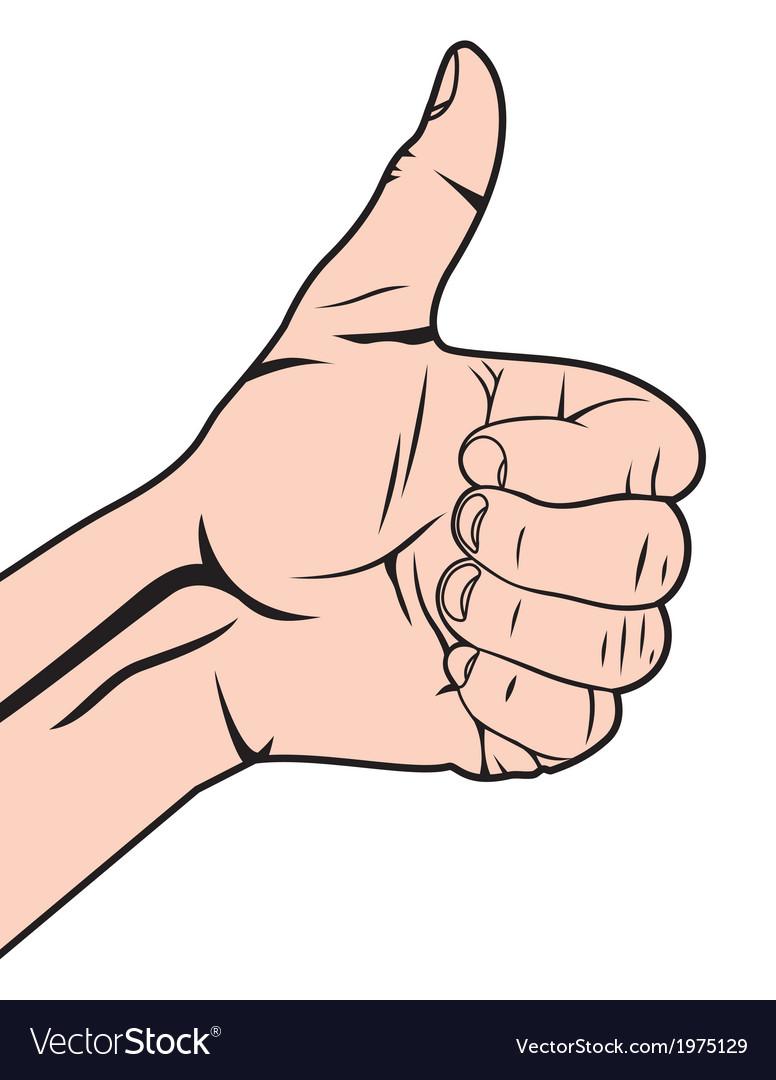 Autostoperski prst beli vector   Price: 1 Credit (USD $1)
