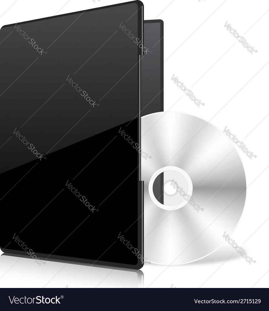 Black case and disk vector | Price: 1 Credit (USD $1)