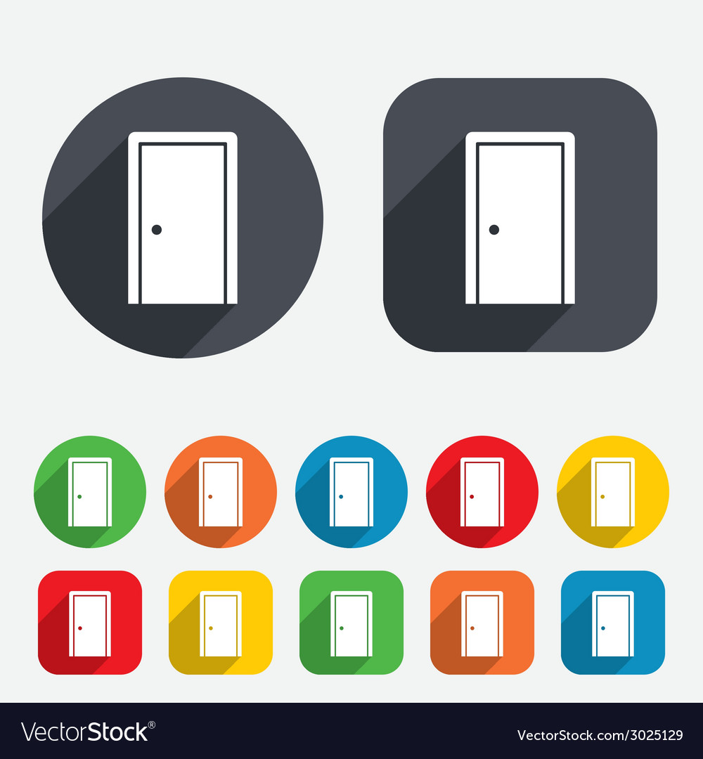 Door sign icon enter or exit symbol vector | Price: 1 Credit (USD $1)