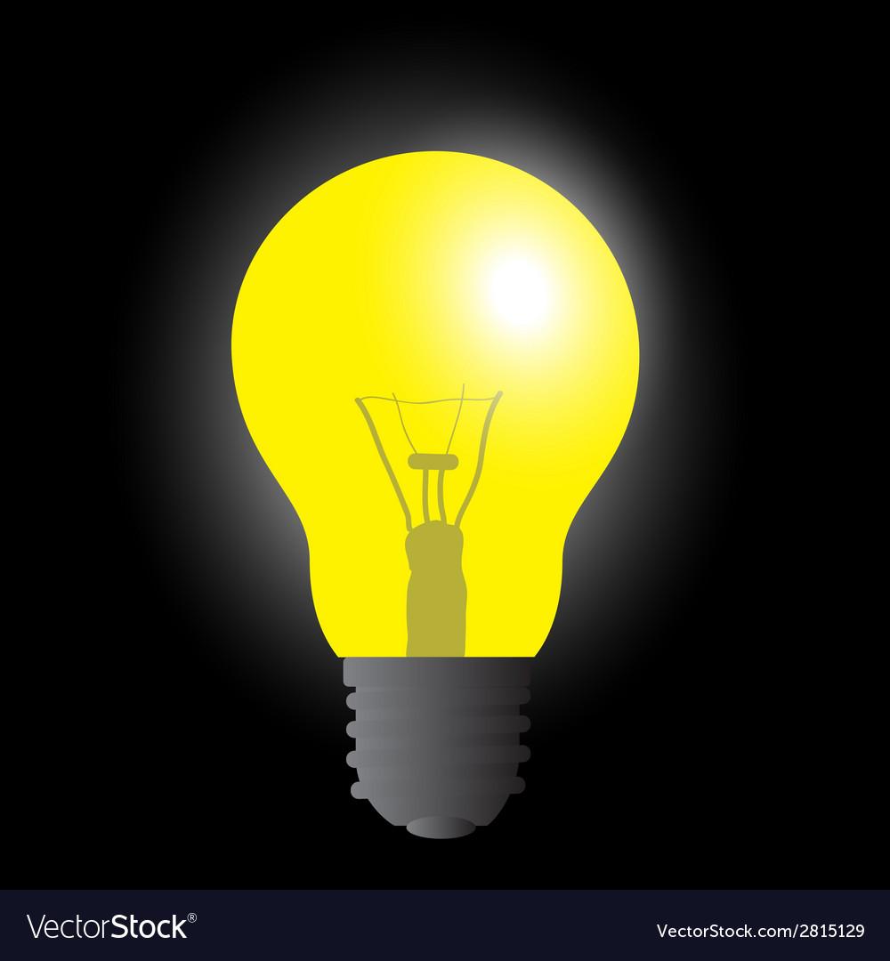 Light bulb yellow light source eps10 vector | Price: 1 Credit (USD $1)