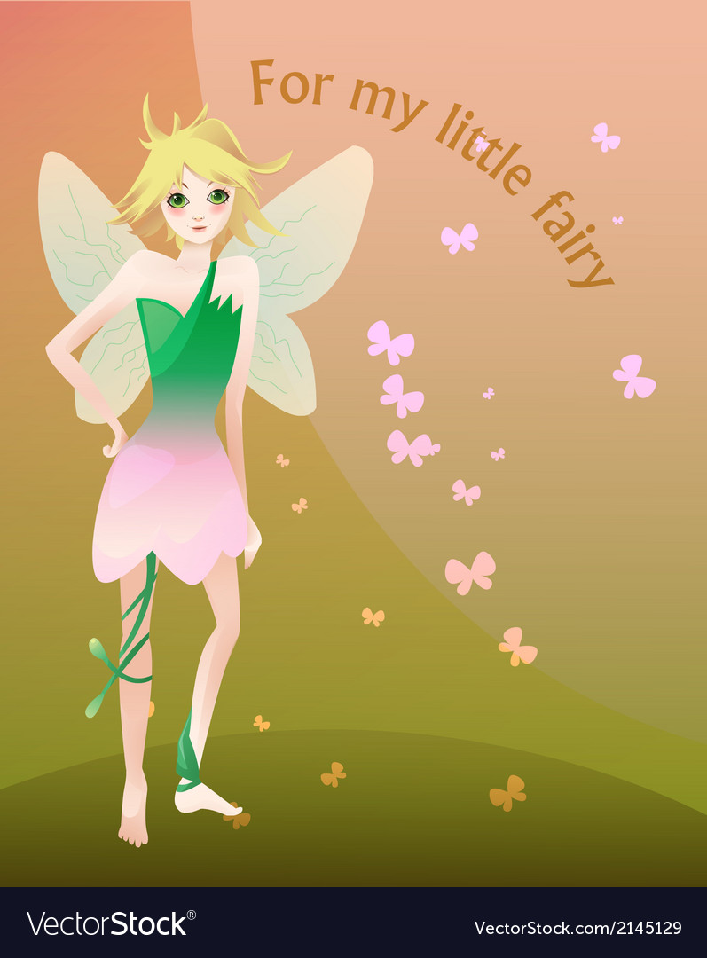 Little blond fairy vector | Price: 1 Credit (USD $1)
