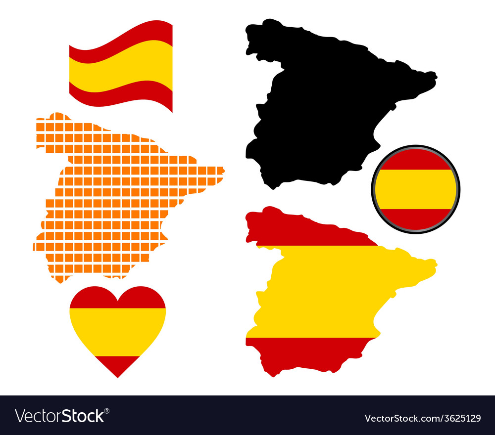 Map of spain vector | Price: 1 Credit (USD $1)