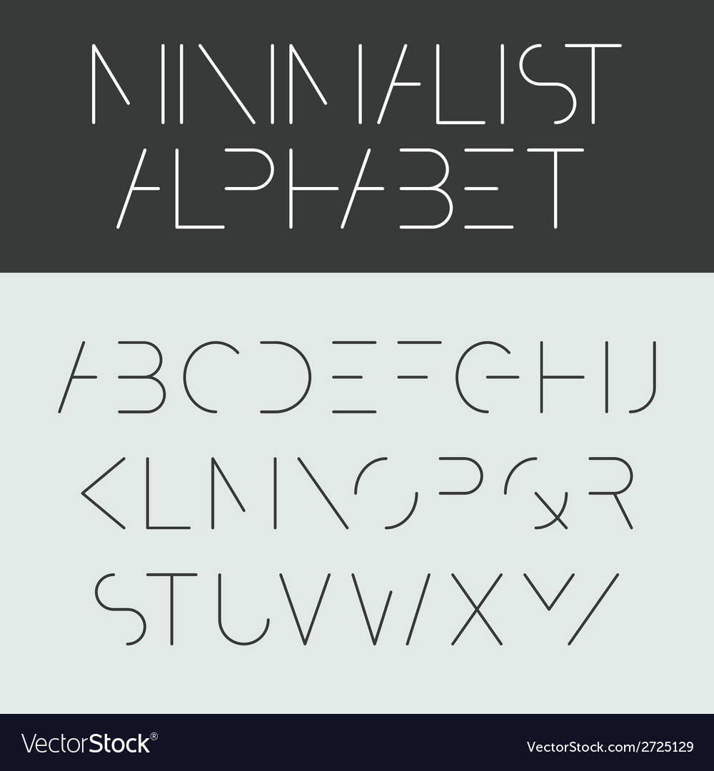Minimalist alphabet vector | Price: 1 Credit (USD $1)