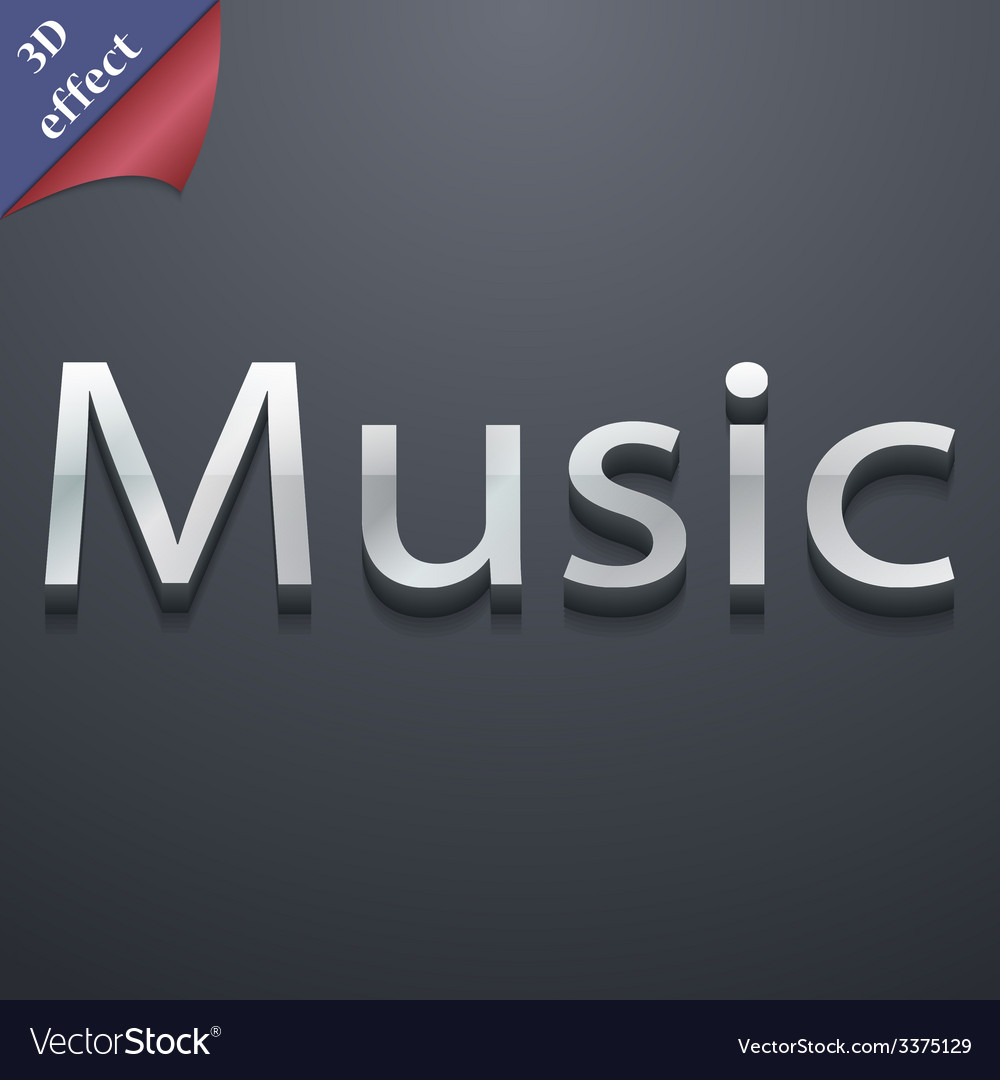 Music icon symbol 3d style trendy modern design vector | Price: 1 Credit (USD $1)