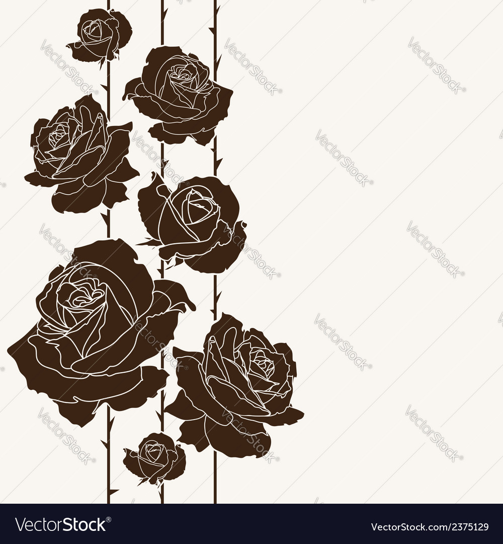 Roses background vector | Price: 1 Credit (USD $1)