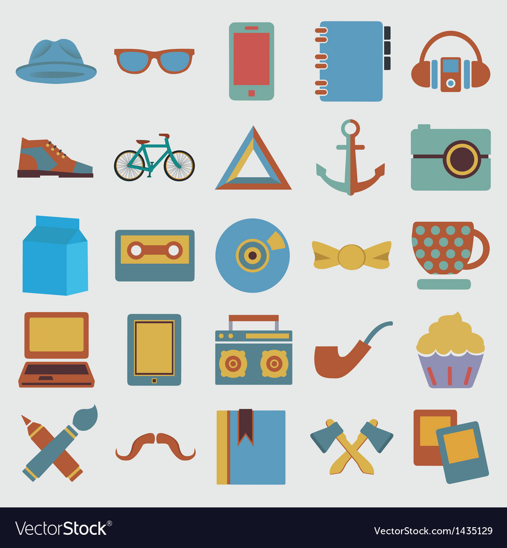 Set of hipster symbol - vector | Price: 3 Credit (USD $3)