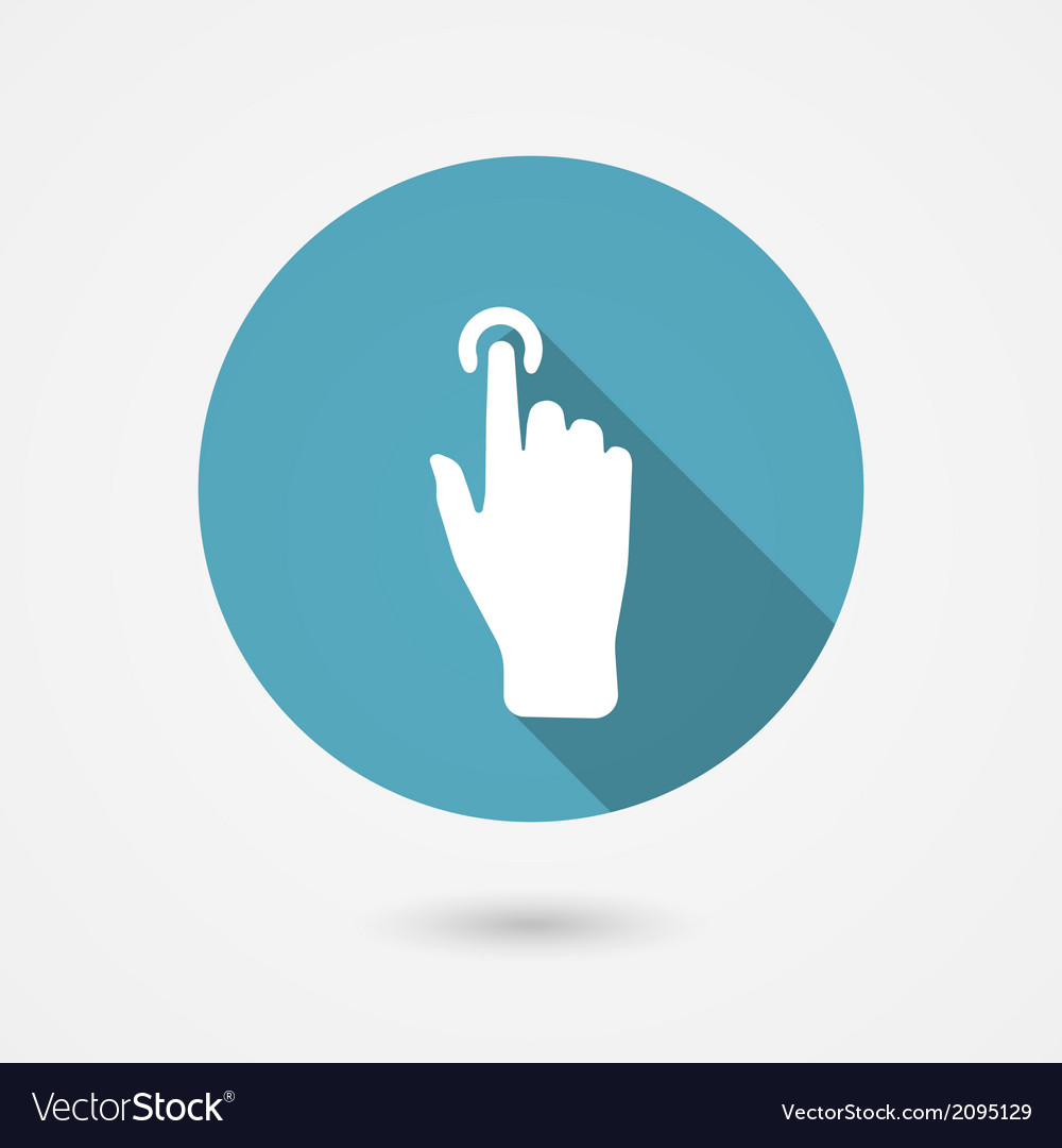 Touch icon vector | Price: 1 Credit (USD $1)