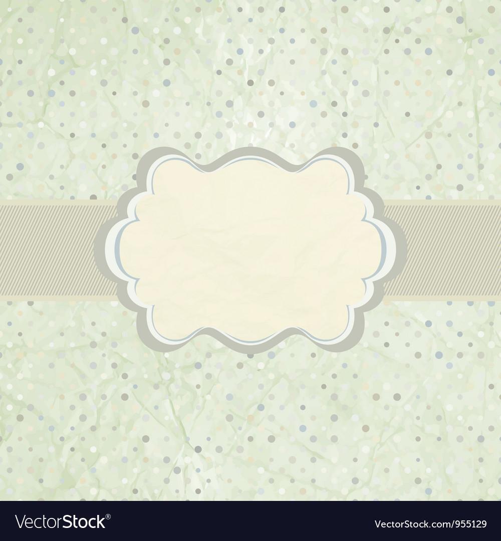 Vintage polka dot card vector | Price: 1 Credit (USD $1)