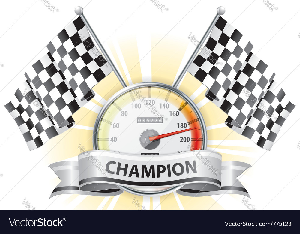 Winner champion speedometer vector | Price: 1 Credit (USD $1)