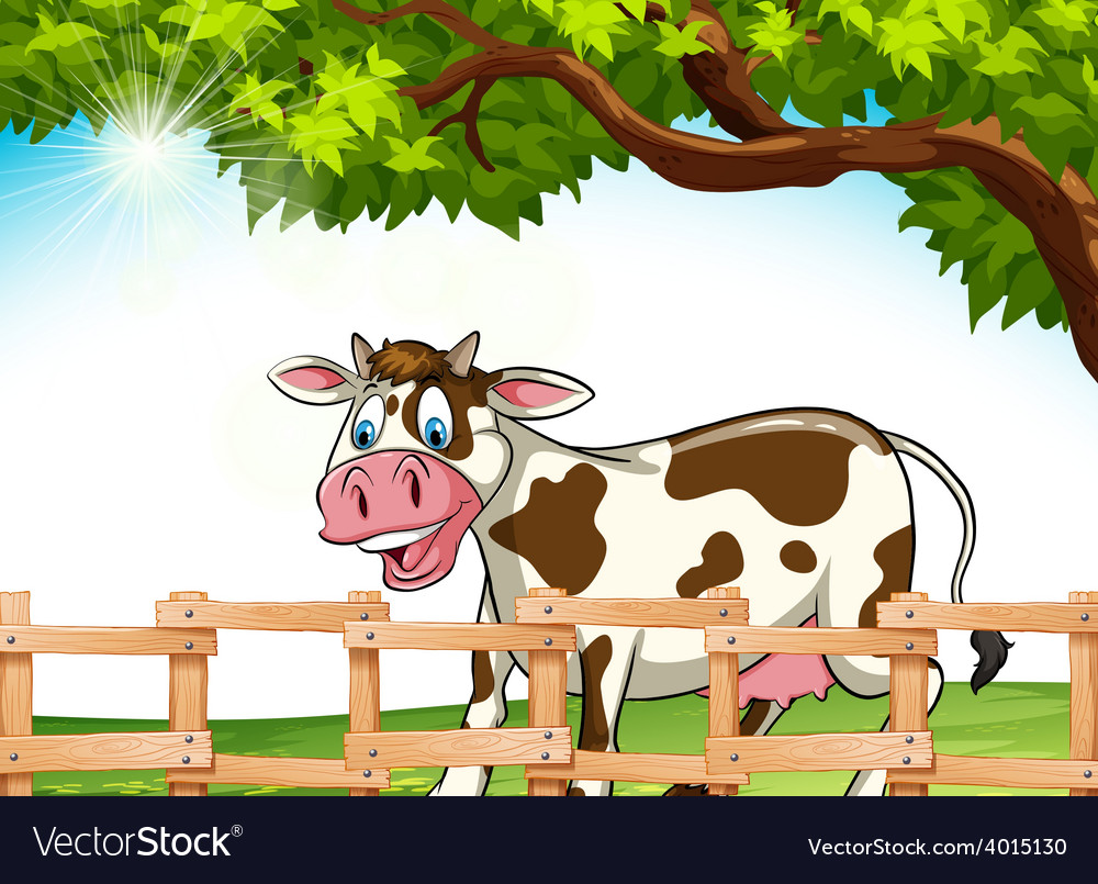A cow smiling vector | Price: 3 Credit (USD $3)