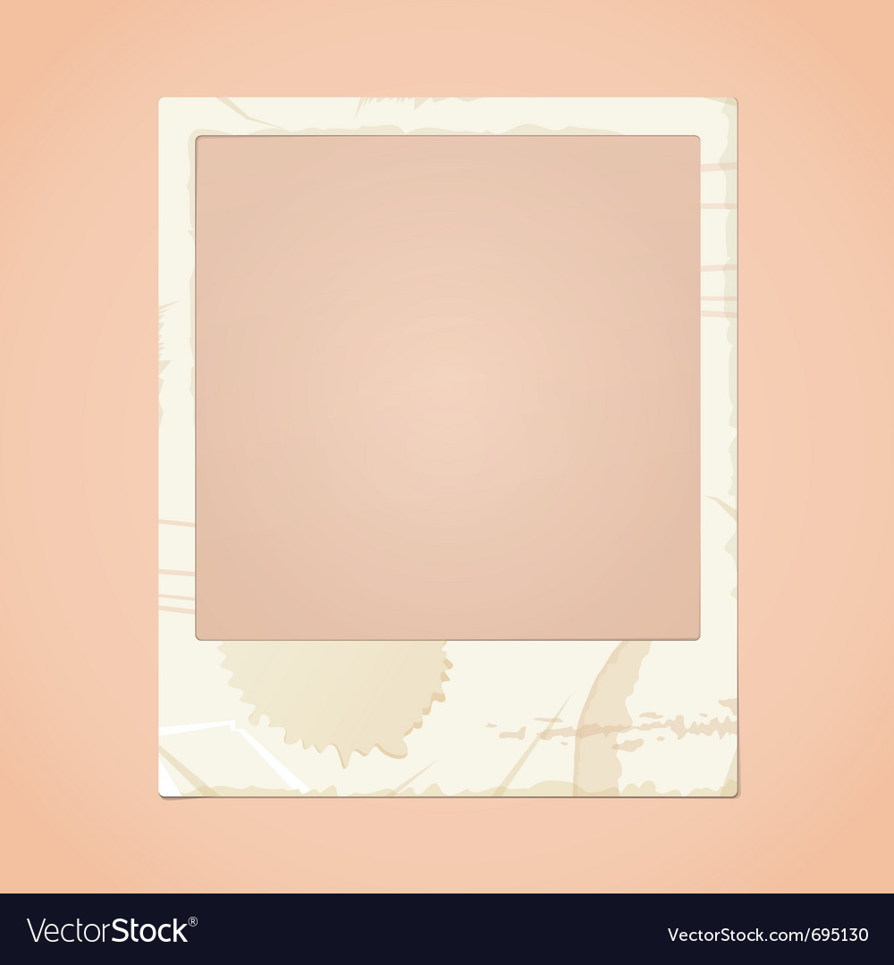 Dirty photo frame vector | Price: 1 Credit (USD $1)