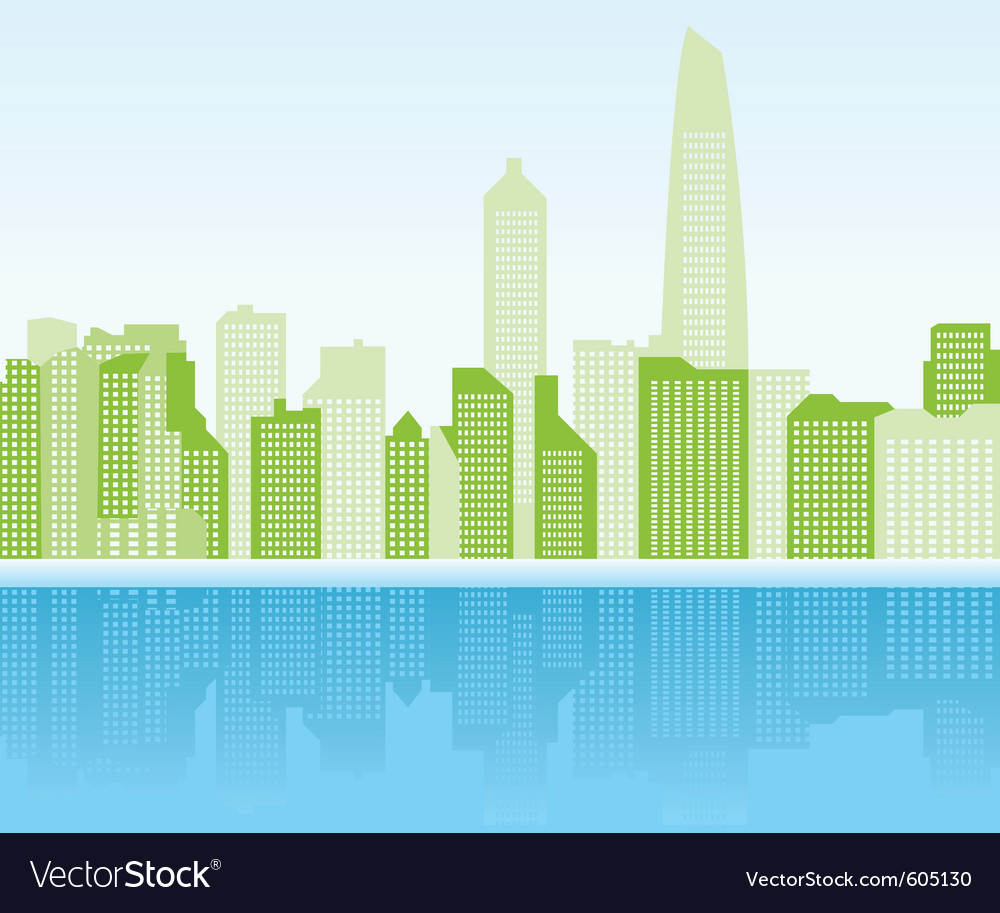 Green city background - shanghai vector | Price: 1 Credit (USD $1)