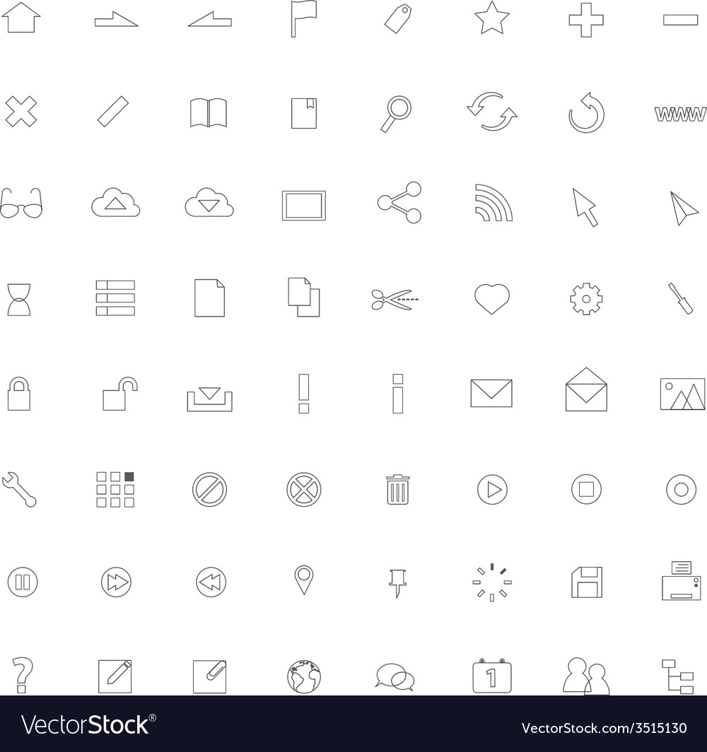 Icon thinline web vector | Price: 1 Credit (USD $1)