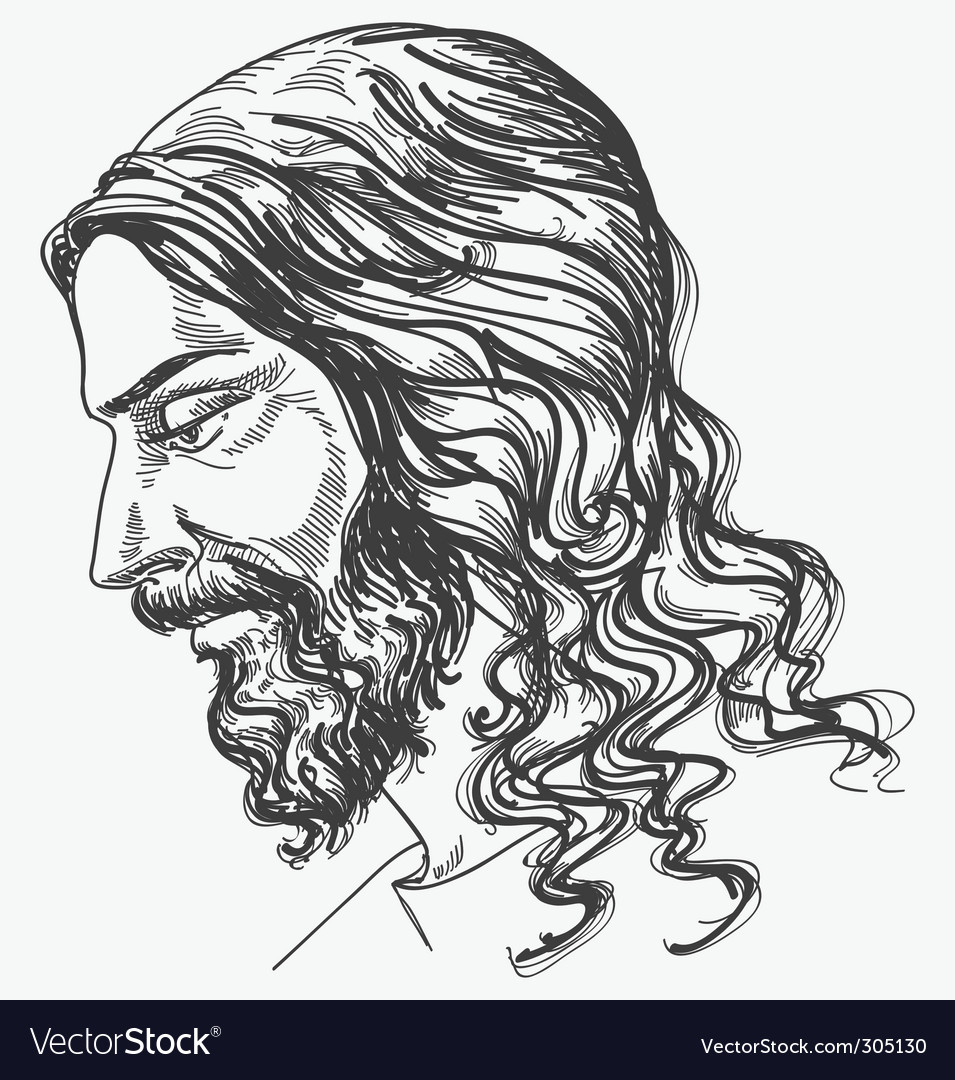Jesus gentle sight vector | Price: 1 Credit (USD $1)
