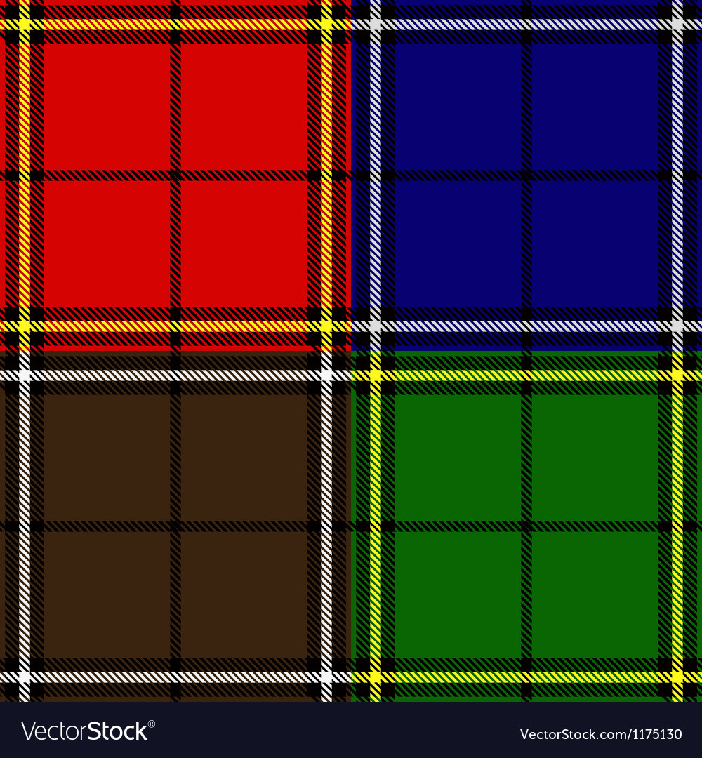 Set of plaid fabric patterns vector | Price: 1 Credit (USD $1)