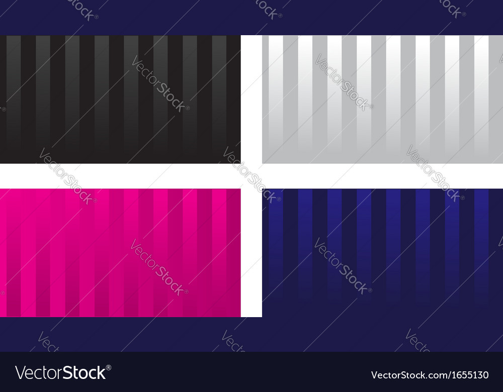 Striped glossy visit card vector | Price: 1 Credit (USD $1)