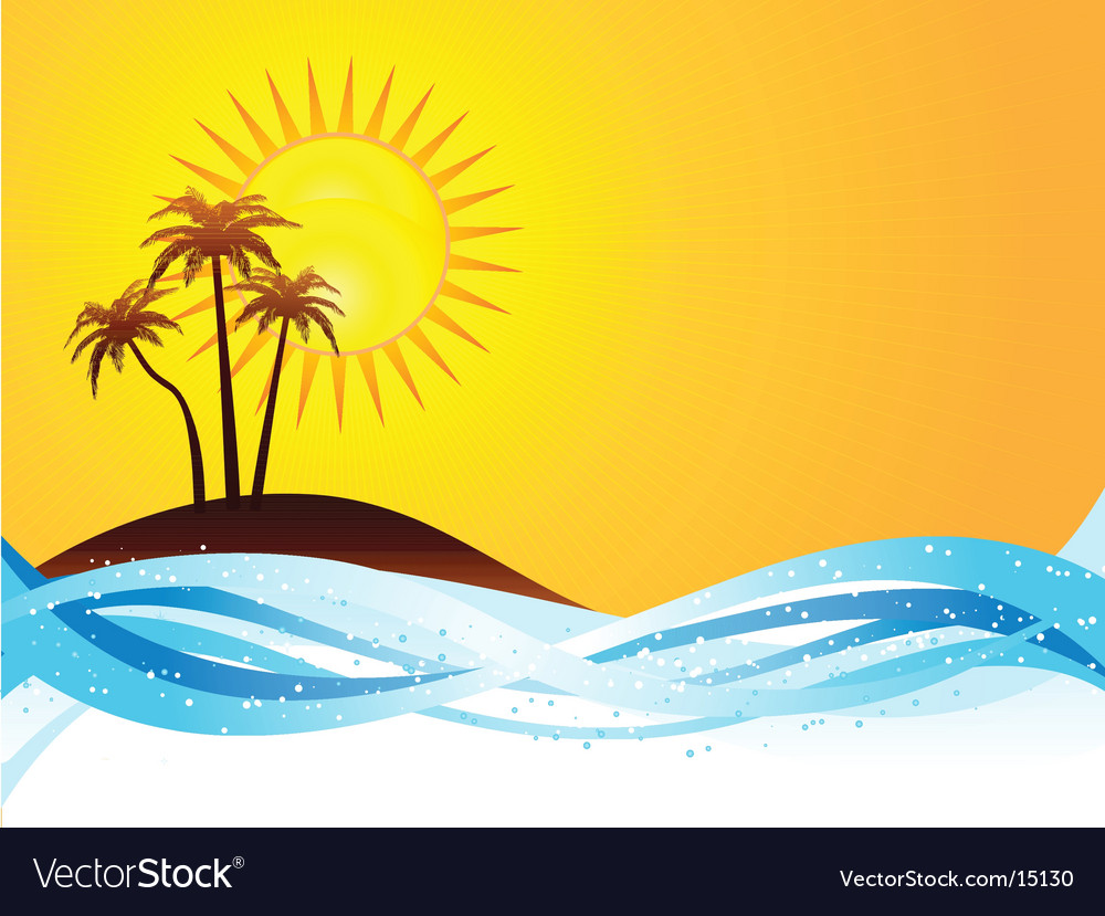 Summer scene vector | Price: 1 Credit (USD $1)