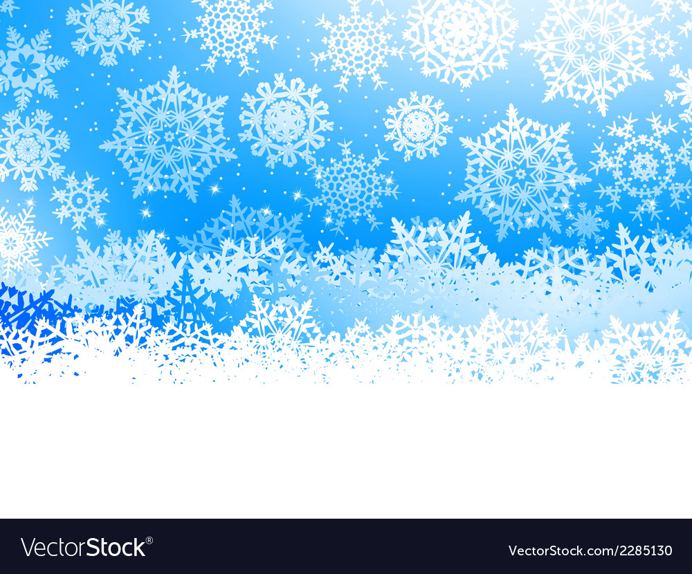 Winter with many falling snowflakes eps 8 vector | Price: 1 Credit (USD $1)