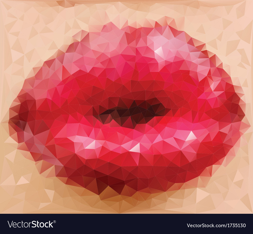 Woman gloss lip vector | Price: 1 Credit (USD $1)