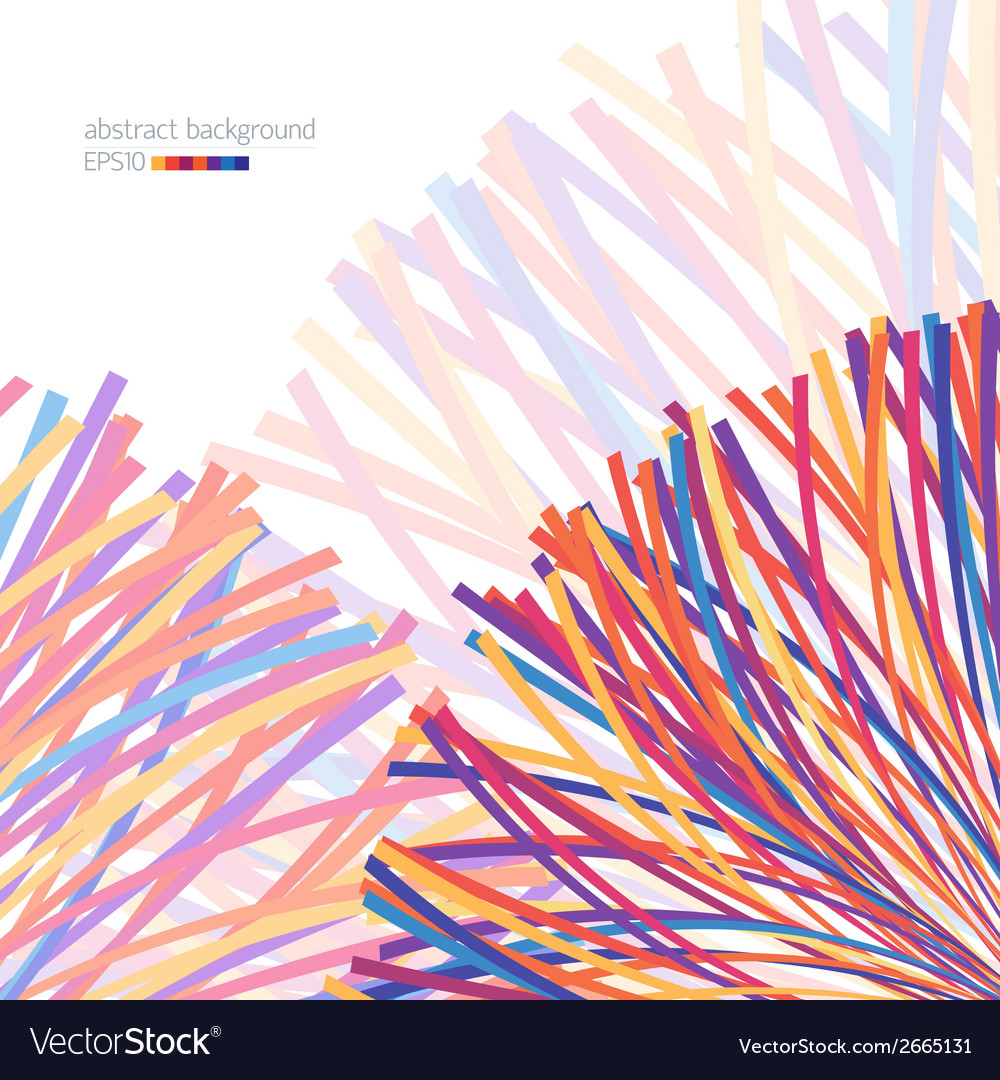 Abstract background with colorful lines vector | Price: 1 Credit (USD $1)