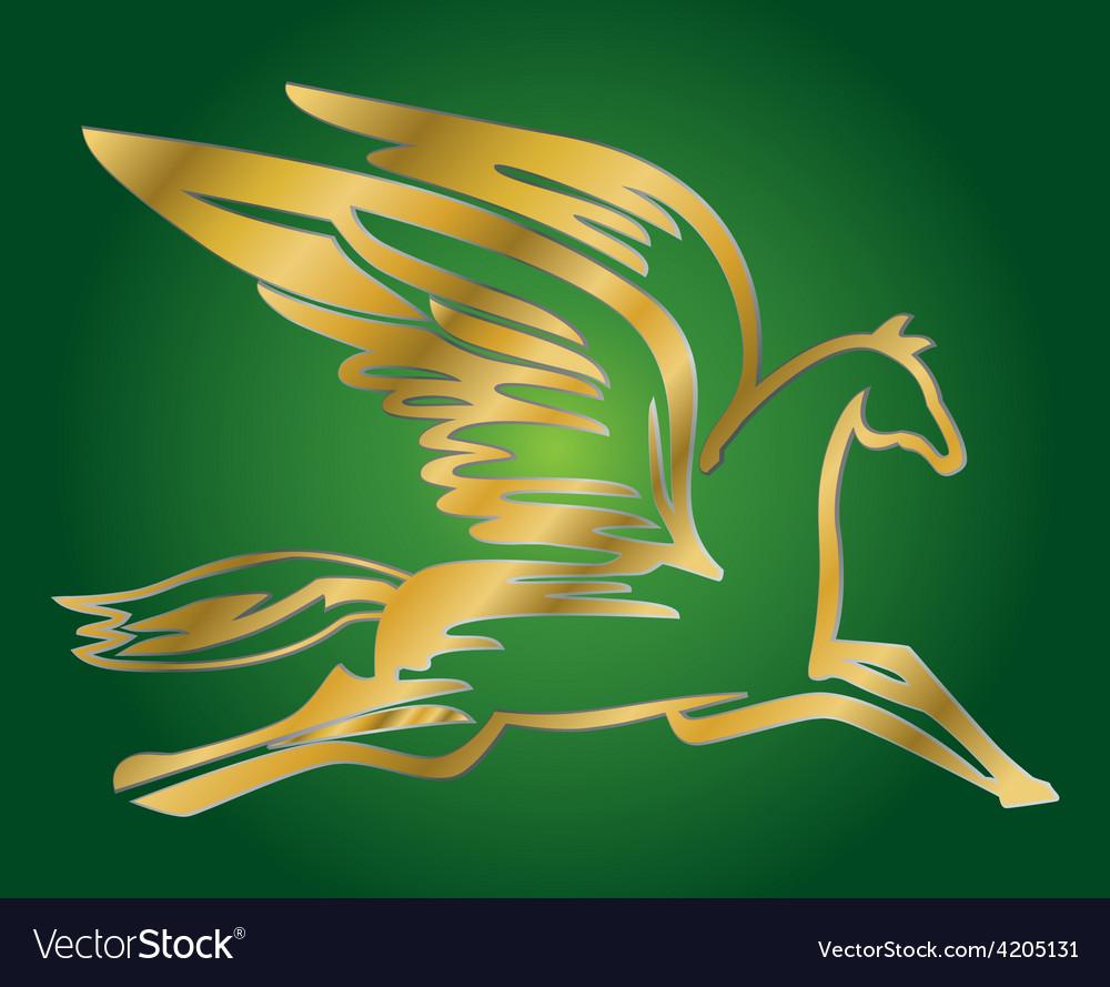 Antique flying horse pegasus vector | Price: 1 Credit (USD $1)