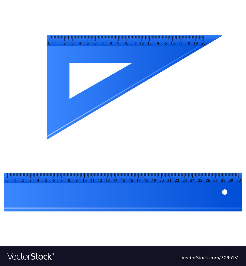 Blue ruler vector | Price: 1 Credit (USD $1)