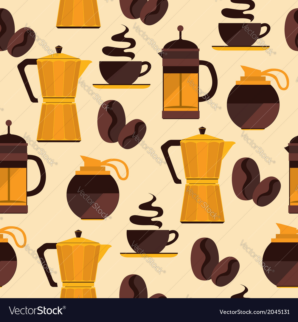 Coffee seamless pattern for menu coffee shop vector | Price: 1 Credit (USD $1)