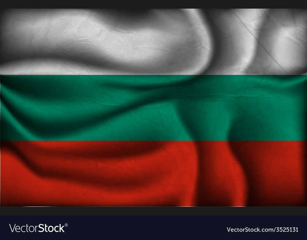 Crumpled flag of bulgaria on a light background vector | Price: 1 Credit (USD $1)