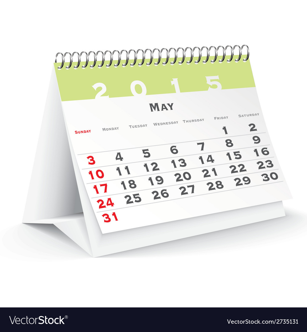 May 2015 desk calendar - vector | Price: 1 Credit (USD $1)