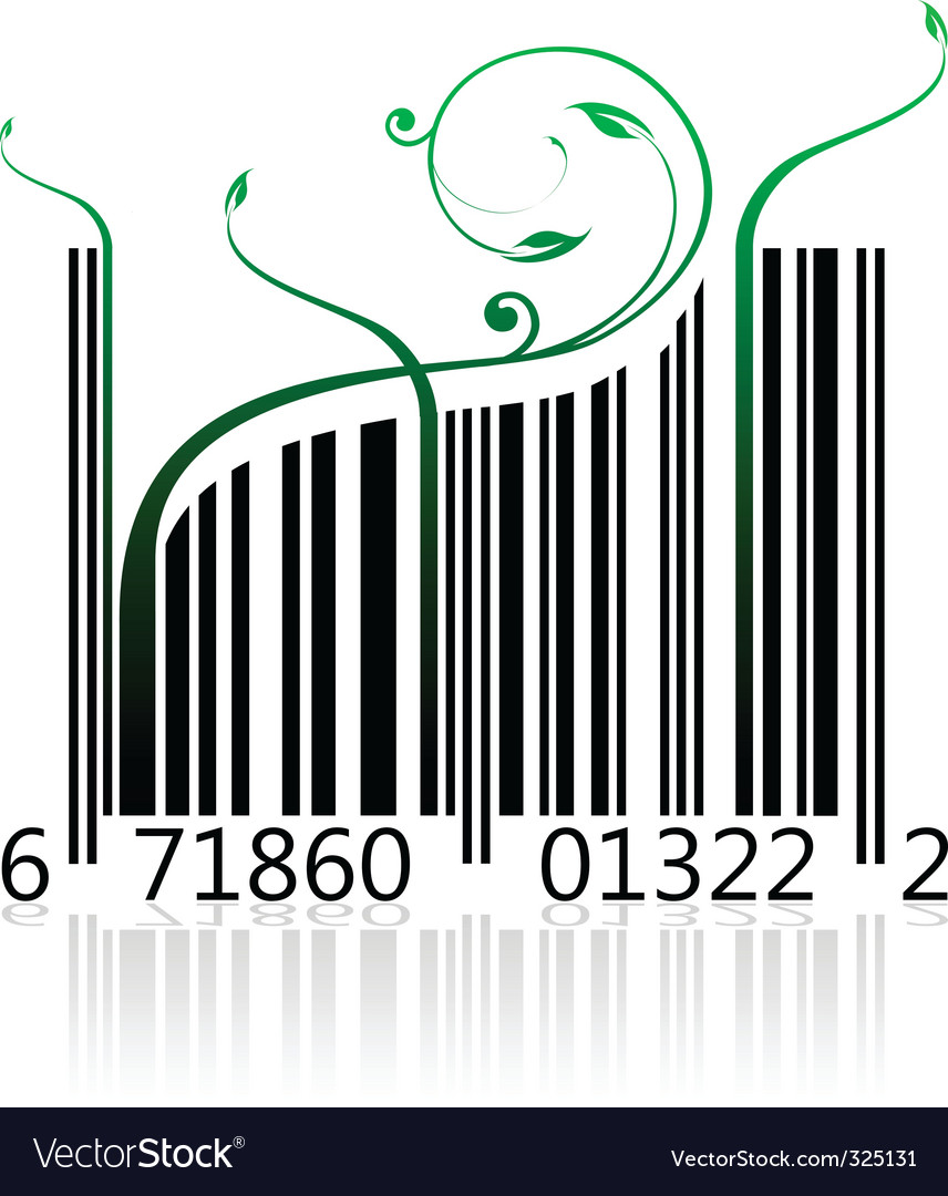 Nature barcode vector | Price: 1 Credit (USD $1)