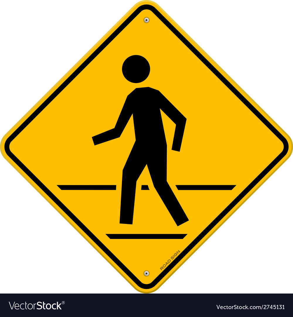 Pedestrian traffic sign vector | Price: 1 Credit (USD $1)